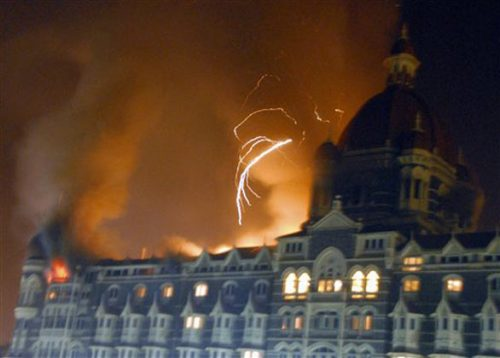 Taj Hotel Burning at Mumbai