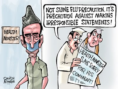 Blah Blah Zad - Midday cartoon by Satish Acharya