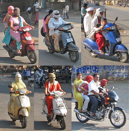 Pune Girls Wearing Headscarves